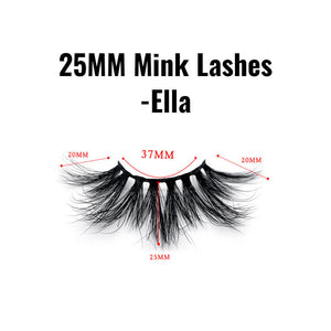 25mm mink lashes Ella