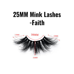 25mm mink lashes Faith