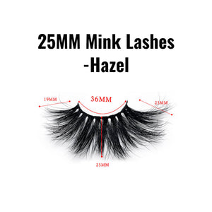 25mm mink lashes Hazel