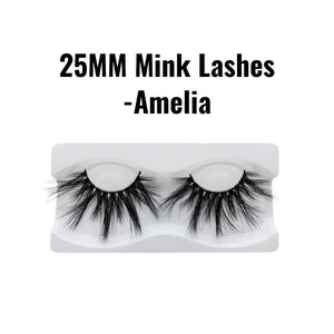 25mm 3d mink lashes Amelia