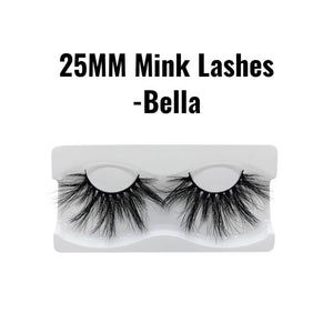25mm 3d mink lashes Bella