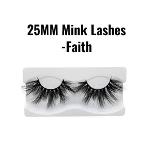 25mm 3d mink lashes Faith