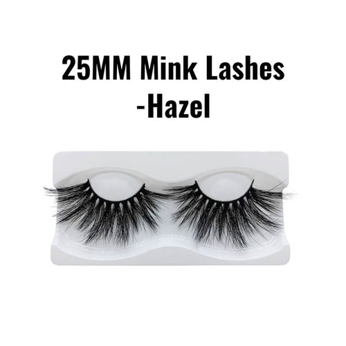 25mm 3d mink lashes Hazel