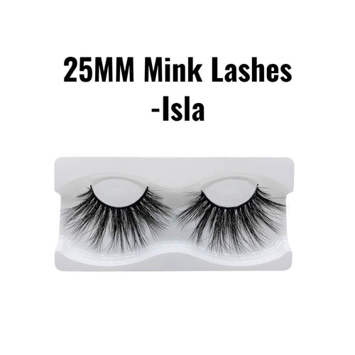 25mm mink lashes Isla