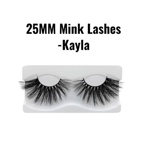 25mm 3d mink lashes kayla