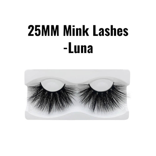 25mm 3d mink lashes Luna
