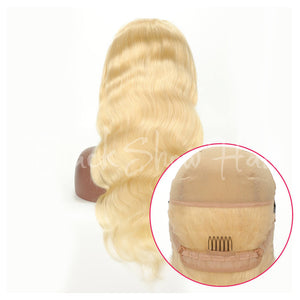 613 blonde hair full lace wig body wave - Black Show Hair