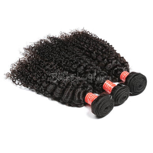 Mink Brazilian Jerry Curl Hair Bundle - Black Show Hair