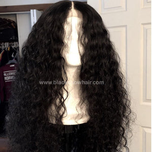 mink Brazilian deep wave black show hair
