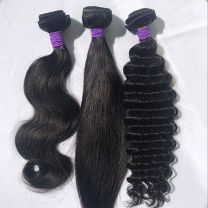 Three Bundles Sample Hair - Black Show Hair