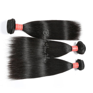 Mink Brazilian Silky Straight Hair Bundle - Black Show Hair