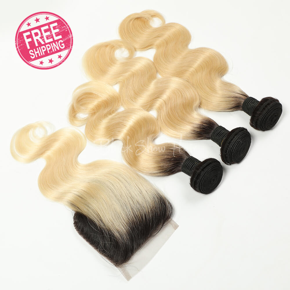 Ombre Blonde 613 Hair Body Wave Bundle Deals - Black Show Hair