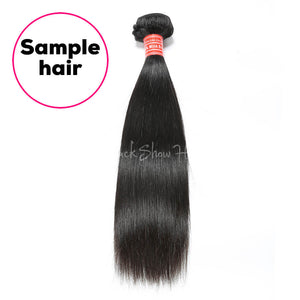 One Bundle Silky Straight Sample Hair - Black Show Hair