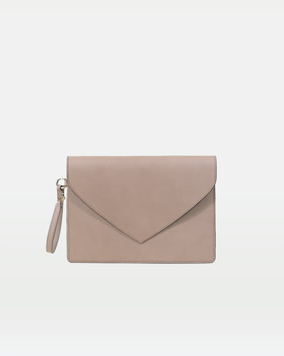 MODHER Envelope Clutch in Argilla vegetable tanned leather#color_argilla