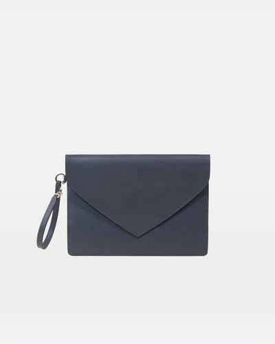 MODHER Envelope Clutch in Elephant vegetable tanned leather#color_elephant