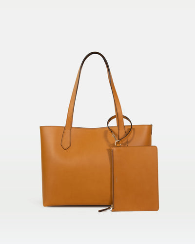 MODHER tote bag in yellow malto vegetable tanned Italian leather#color_yellow-malto