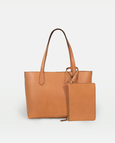 MODHER tote bag in naturale vegetable tanned Italian leather#color_naturale