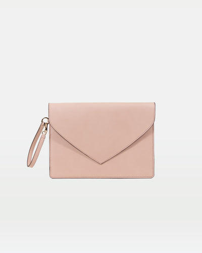 MODHER Envelope Clutch in Rosa vegetable tanned leather#color_rosa