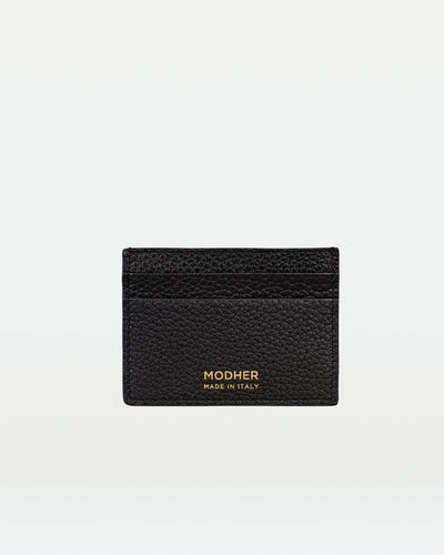 MODHER Leather credit card holder#color_black