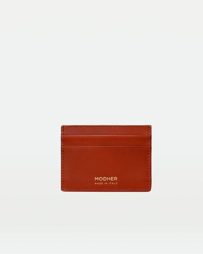 MODHER Leather Credit Card Slip#color_golden-brown