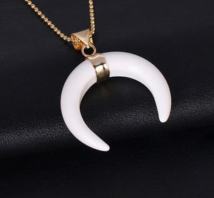 Crescent Moon Crystal Necklace