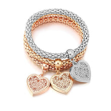 Load image into Gallery viewer, Heart Charm Bracelets (Buy 1, get 2 FREE)