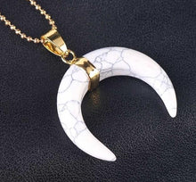 Load image into Gallery viewer, Crescent Moon Crystal Necklace