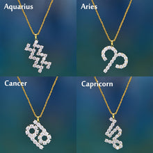 Load image into Gallery viewer, Crystal Zodiac Sign Necklace