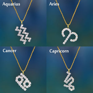 Crystal Zodiac Sign Necklace