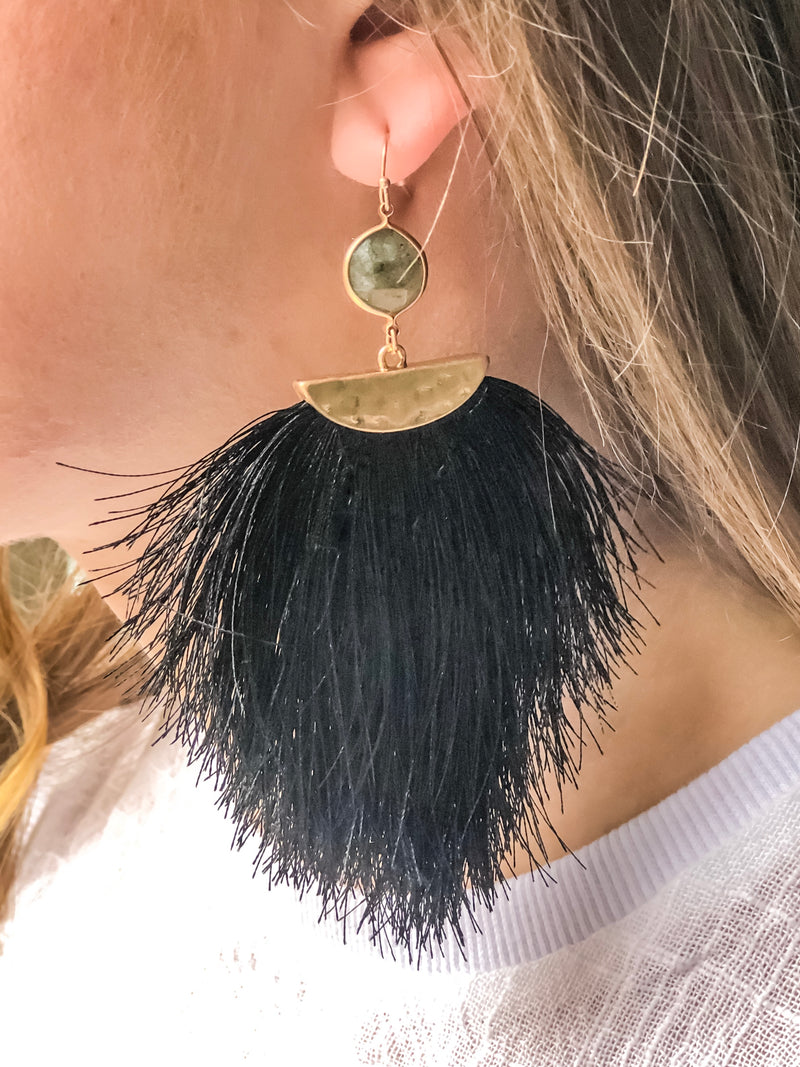 Sassy Fur Dangle Earrings