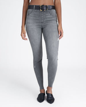 SPANX Distressed Skinny Jeans -Vintage Grey
