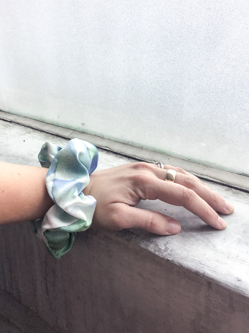 Watercolor Tie-Dye Scrunchie
