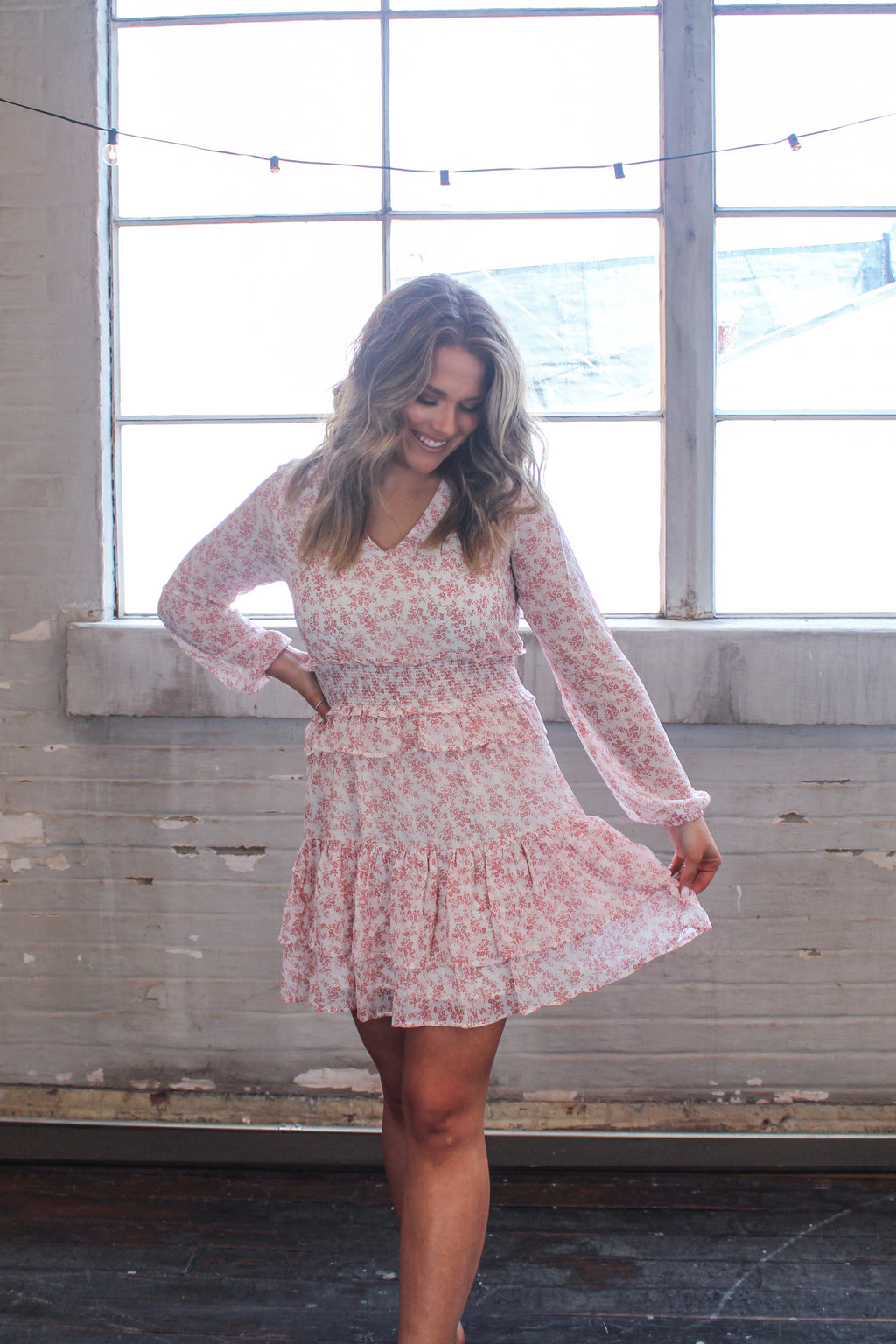 Southern Belle Floral Dress -Rose