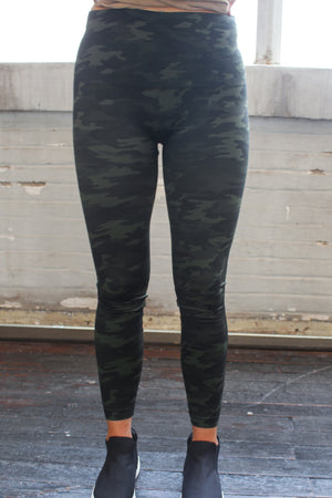 SPANX Look At Me Now Seamless Leggings -Green Camo