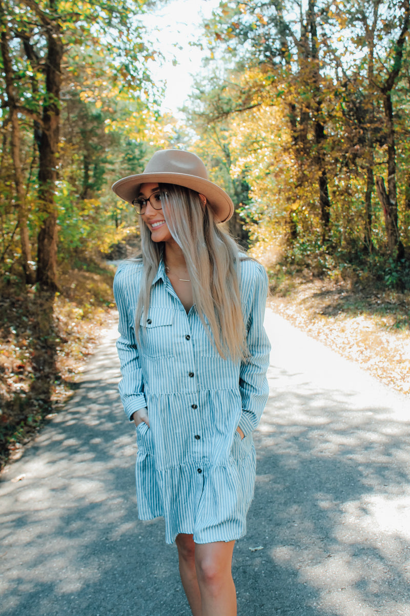 Shaunda Chambray Ruffle Dress