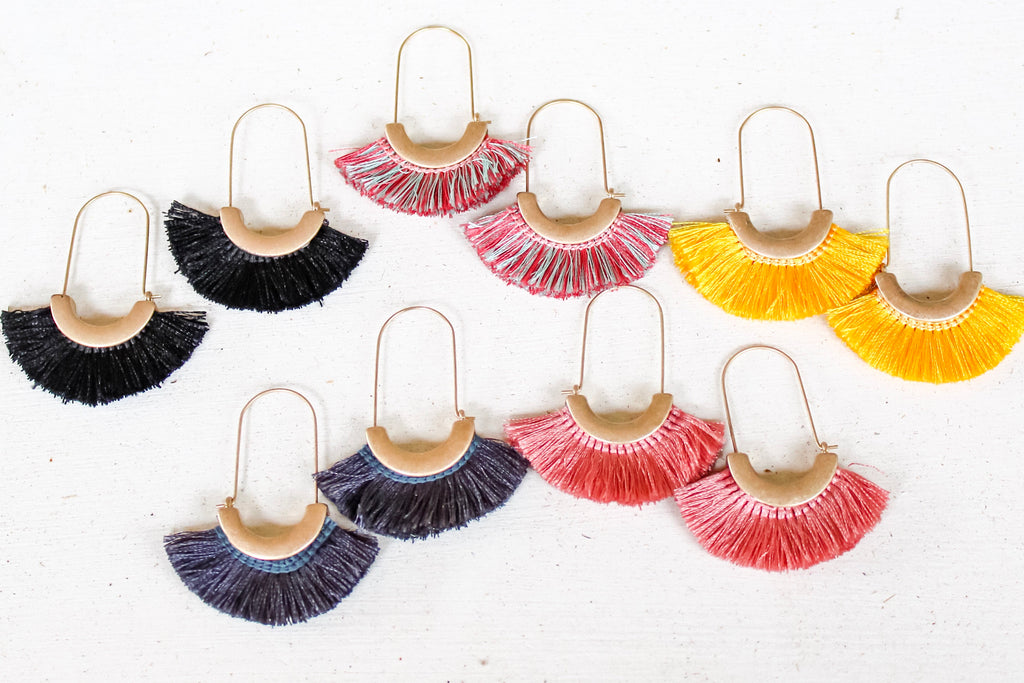 Jill Arc Tassel Earrings