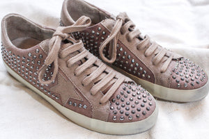 Rockstar Studded Sneaker -Taupe