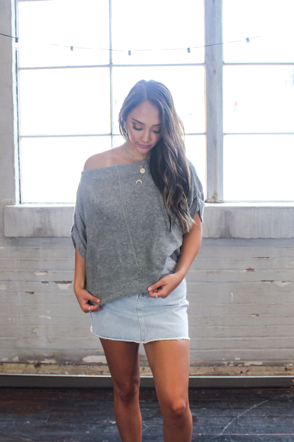 Sierra Soft Sweater Top -Olive