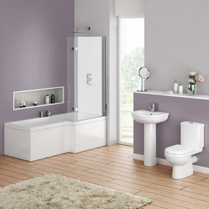 Ivo 4 Piece Set - Basin, Pedestal, Pan & Cistern