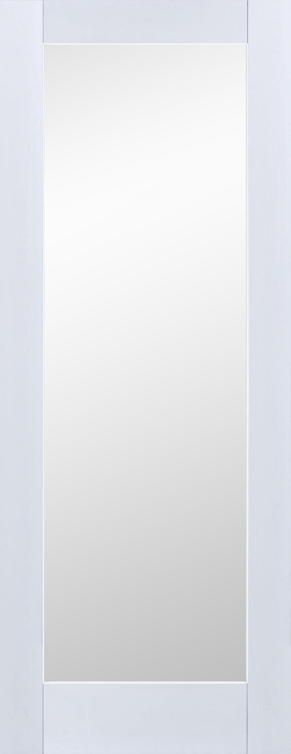 Borneo Clear Glass Premium Primed White