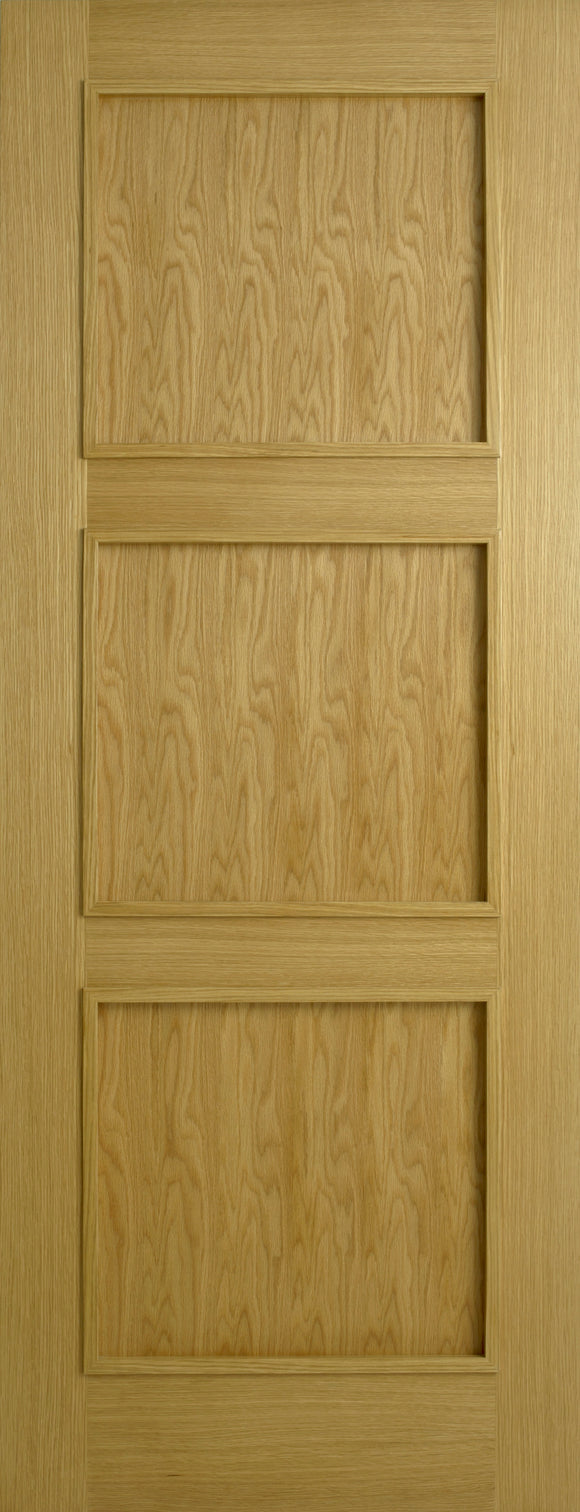 Contract Oak 3 Panel Varnished