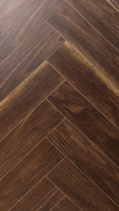 Canadia Wood Block Norbon Walnut Herringbone 1.74 Y2 per pack priced per Y2