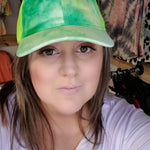 Mint and Lime Tie Dye Baseball Cap-TCB