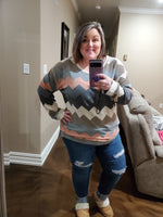 Chevron Sweater - Small to 3x