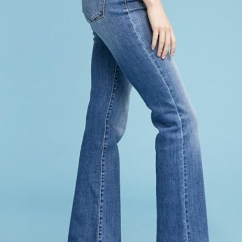 240 - Judy Blue Medium Washed Boot Cut Jeans-TCB