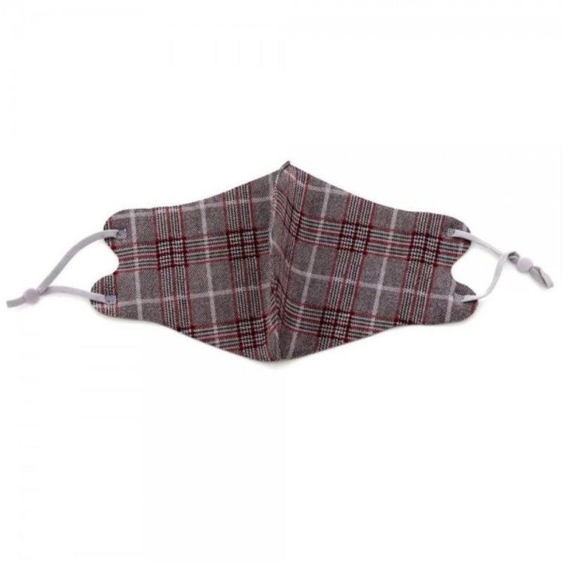 297 Burgundy Plaid Facial Covering-TCB