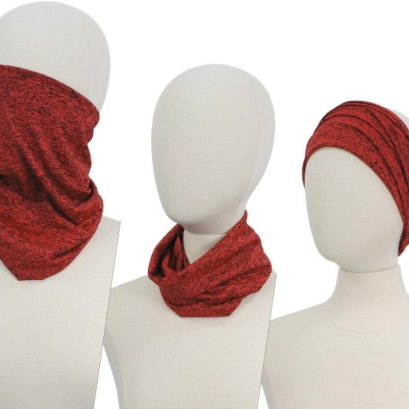289 Scarf Neck Covering- Red-TCB