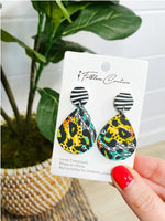 2000 Neon Jungle Clay Statement Earrings