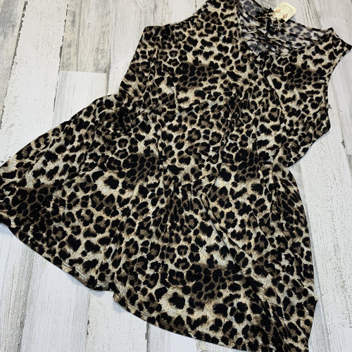 479-Sleeveless Leopard dress-TCB