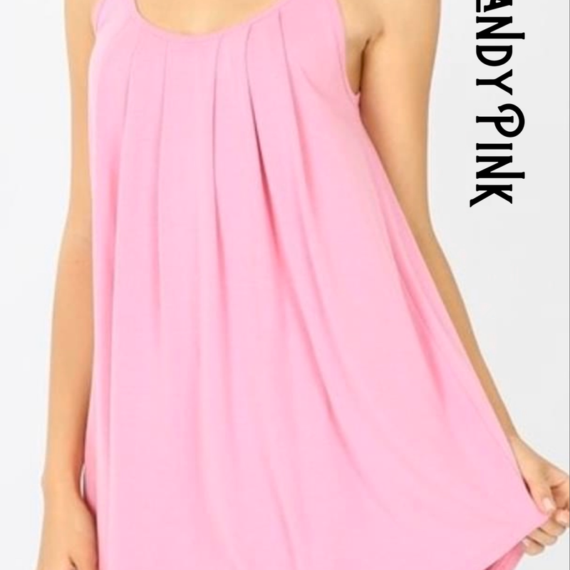 416-Pleated Flowy Tank -Regular - Small to XL-TCB